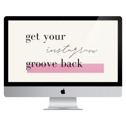 get your instagram groove back course yes supply